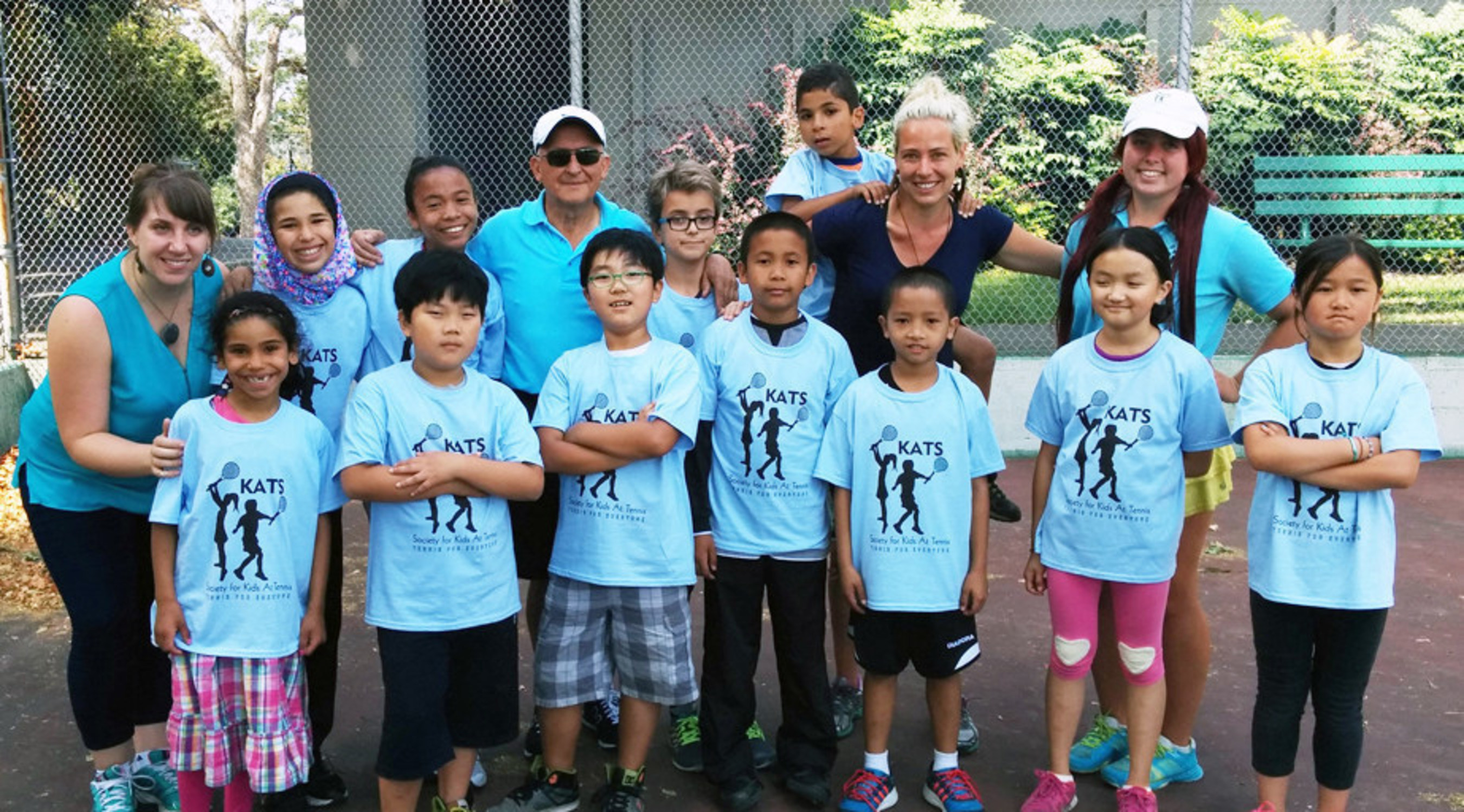 Society For Kids at Tennis - Inter-Cultural Association's tennis class in session!