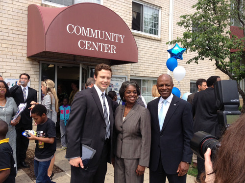 Connect2Compete CEO Zach Leverenz, FCC Acting Chairwoman Mignon Clyburn and Cox Virginia Senior VP and General ...