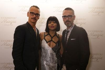 Taraji P. Henson, Viktor Horsting and Rolf Snoeren at the launch of Viktor&Rolf Magic Collection (PRNewsFoto/Viktor&Rolf)