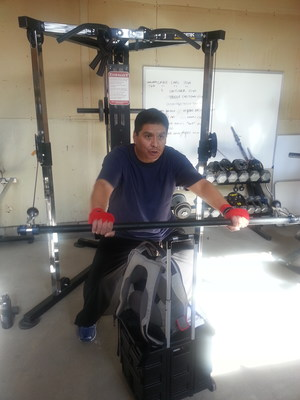 "Christopher Larsen, working out shortly after his SynCardia Total Artificial Heart, is one of two Arizona men featured in an HP Matter video, ""Life Saving Tech: Living with an Artificial Heart."" He received the SynCardia Heart implant in July 2013."