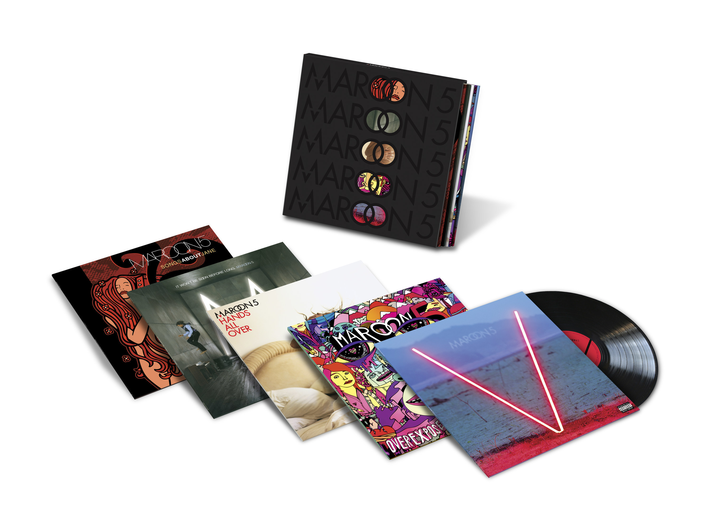 MAROON 5 -- THE STUDIO ALBUMS LIMITED EDITION FIVE-LP BOX SET, ALL FIVE TITLES ALSO AVAILABLE ON INDIVIDUAL VINYL