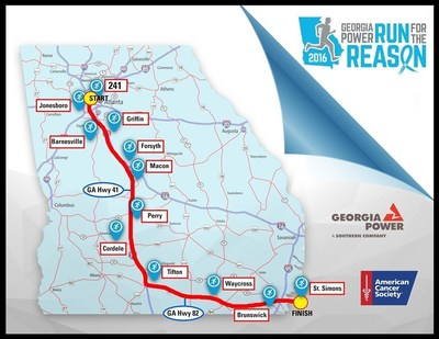 Georgia Power runners will cross the state to raise money to fight cancer as part of the 19th annual Run for the Reason.