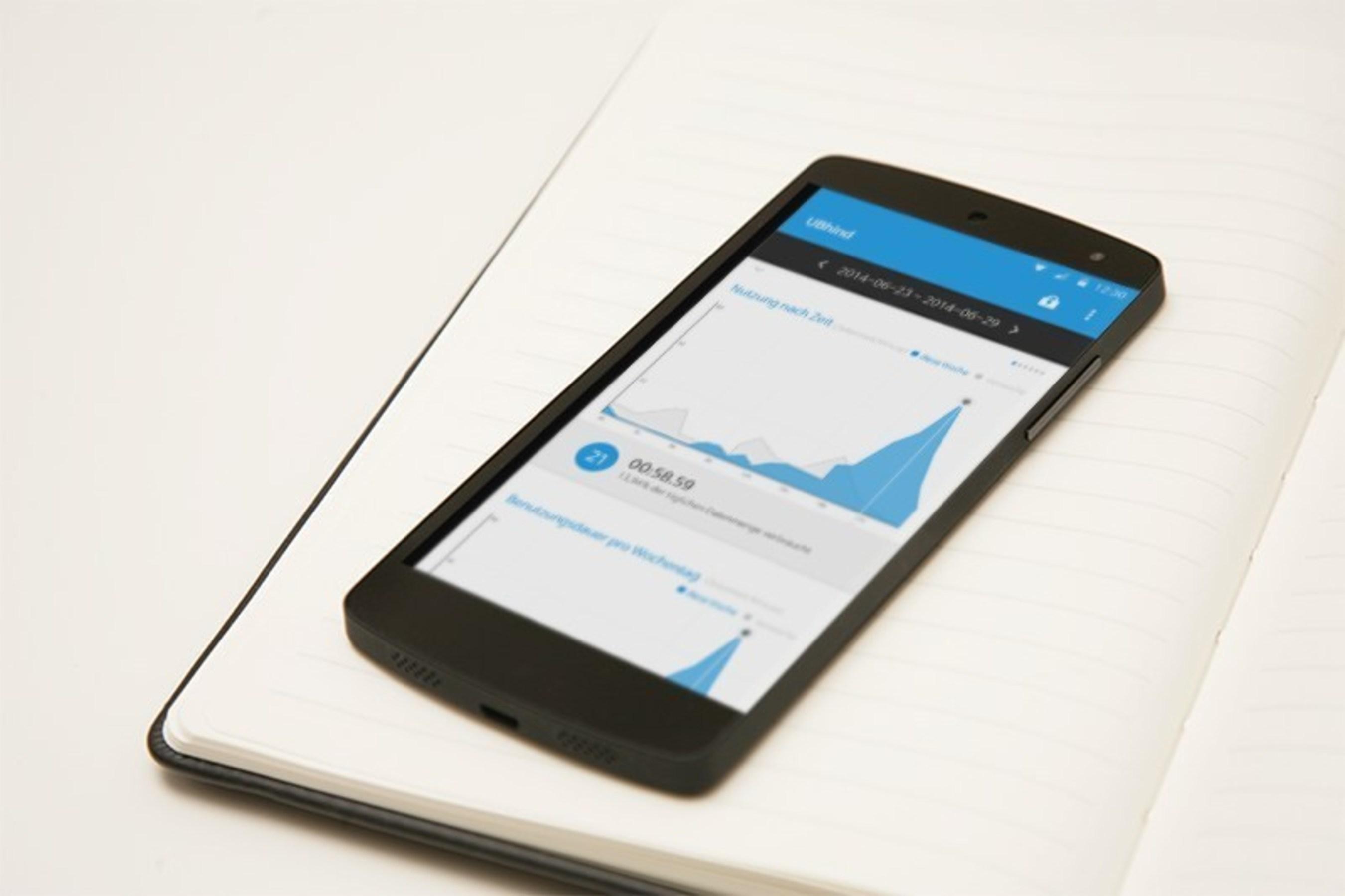 """App zur Vorbeugung gegen Smartphone-Abhängigkeit: """"UBhind - Mobile Life Pattern'"""