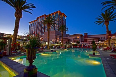Thunder Valley Casino Resort hotel and pool.