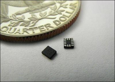 Zero-code Programmable Mixed-signal GreenPAK 3, in a 2.0 x 2.2 mm 14-pin package.