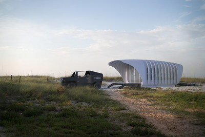 SOM-Designed 3D-Printed Building Powered by a Car