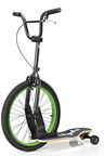 The sbyke(TM) will be showcased at Interbike 2011 at the Sands Expo and Convention Center in Las Vegas, Nevada from September 14th through 16th. The sbyke(TM) is a patented rear-steering scooter, featuring a large front bicycle wheel, maple skateboard deck and a hand brake. Its high quality, compact, lightweight design is crafted from aircraft aluminum. Low rolling resistance and unmatched maneuverability makes cruising a pleasure. Sbyke USA, LLC is headquartered in Las Vegas, Nevada. Find out more at sbyke.com.  (PRNewsFoto/Sbyke USA, LLC)