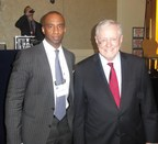 Shawn Baldwin, Chairman of AIA Group, with Steve Forbes, Chairman and editor-in-chief of Forbes Media at the 2015 Forbes Reinventing America Summit.