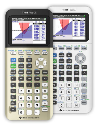"""Texas Instruments adds two new limited-edition colors to the TI-84 Plus CE graphing calculator line-up, """"Golden Ratio and """"Bright White,"""" just in time for the back-to-school shopping season."""
