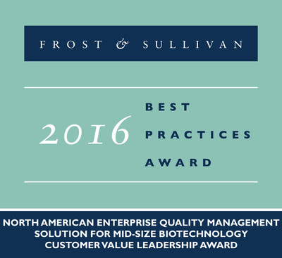 SOLABS Receives 2016 North American Enterprise Quality Management Solution for Mid-Size Biotechnology Customer Value Leadership Award