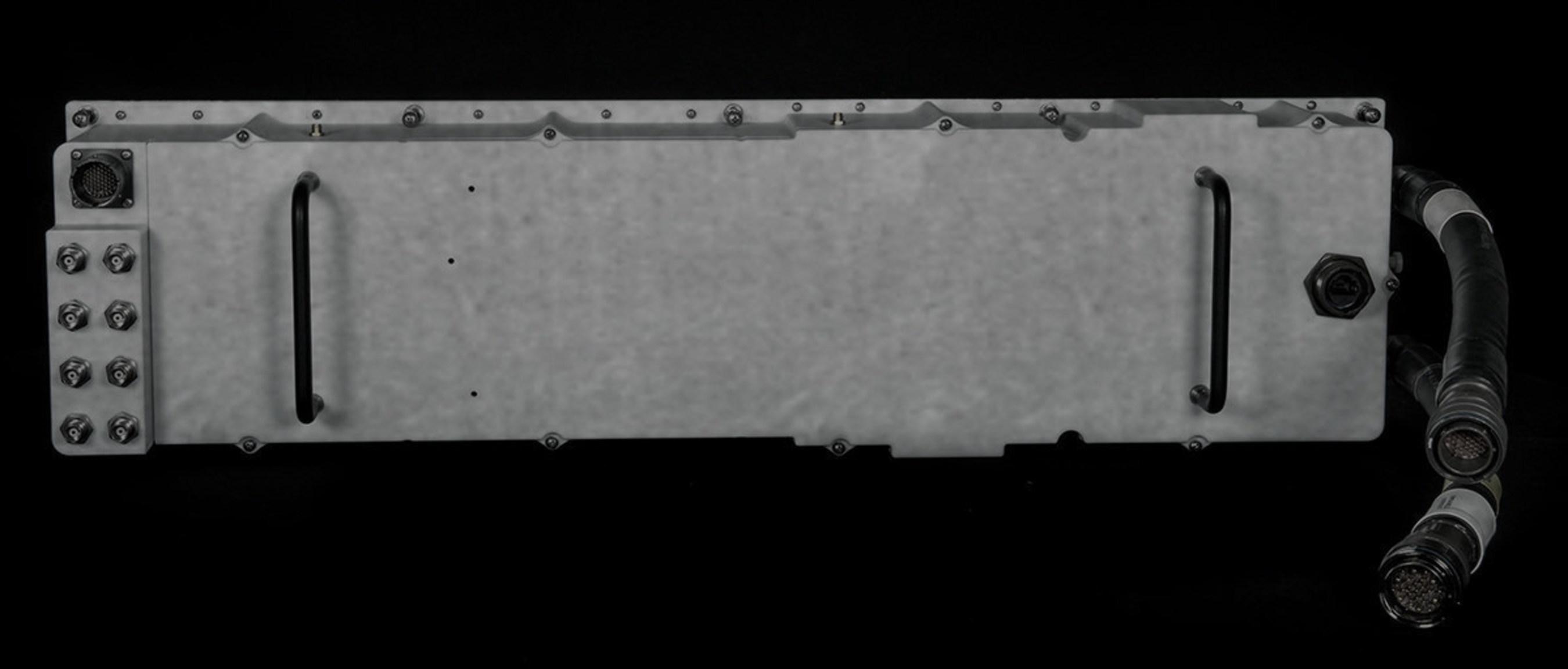 Lockheed Martin's new Digital Array Row Transceiver (DART) is a combined transmit and receive LRU with Gallium Nitride (GaN) T/R modules. Photo courtesy Lockheed Martin.