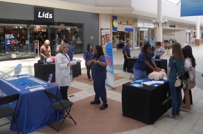 Hospital Employees participate in National CPR Day (PRNewsFoto/Lakewood Regional Medical Center)
