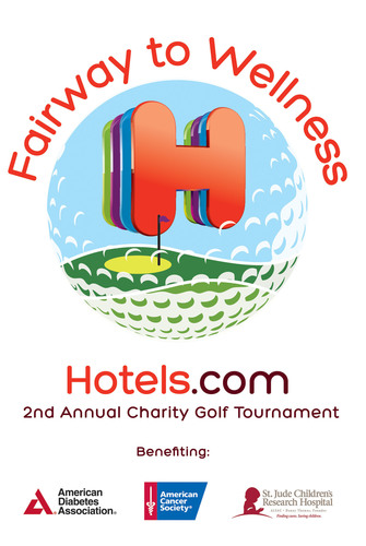 Hotels.com announces St. Jude Children's Research Hospital as the newest beneficiary for its annual Fairway to Wellness Golf Tournament.  (PRNewsFoto/Hotels.com)