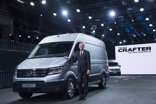 Presentation of the new Crafter: Dr. Eckhard Scholz (Chief Executive Officer of the Volkswagen Commercial Vehicles Board of Management) (PRNewsFoto/Volkswagen Commercial Vehicles)