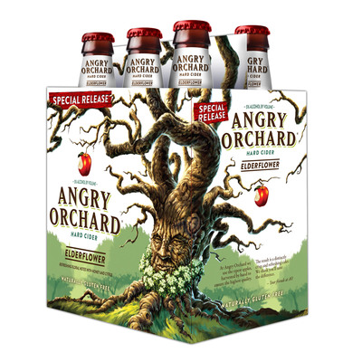 Angry Orchard Elderflower Hard Cider now available nationwide.  (PRNewsFoto/Angry Orchard Cider Company)