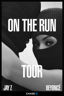 ON THE RUN TOUR: BEYONCE AND JAY Z, for more information about tickets, visit livenation.com or the Live Nation mobile app (PRNewsFoto/Live Nation Entertainment)