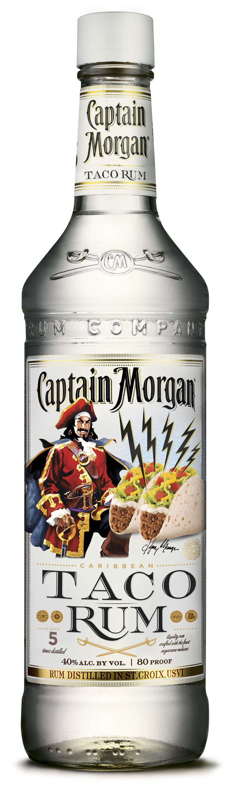 Success of New White Rum and Emerging Group Taco Occasion Leads to New Mouth Watering Captain Morgan(R) Taco Rum. (PRNewsFoto/Diageo) (PRNewsFoto/DIAGEO)