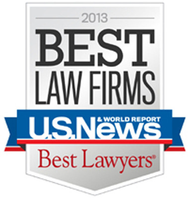 2013 Best Law Firms.  (PRNewsFoto/Shapiro, Lewis, Appleton & Favaloro)