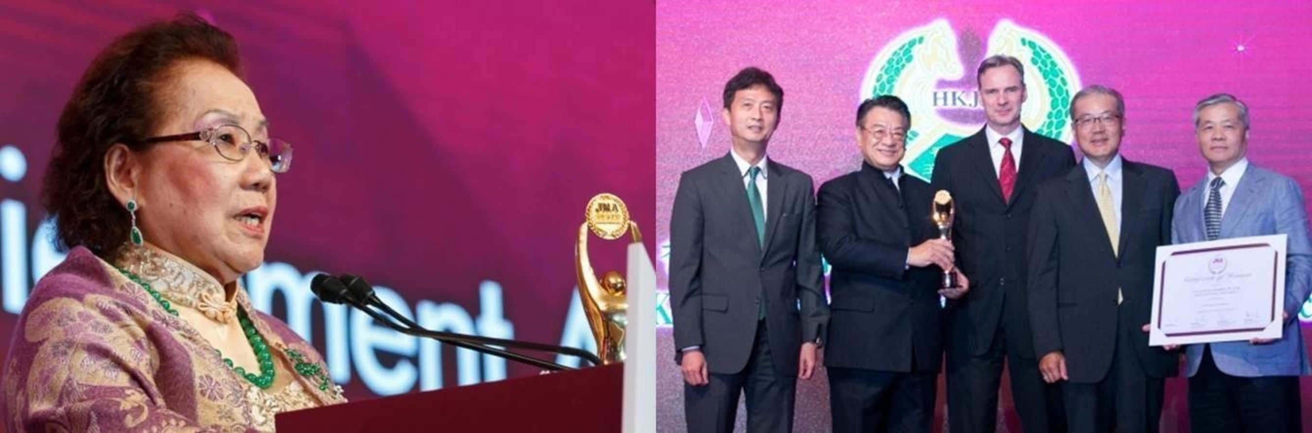 From left: Mimi Ou Yang Chiu Mei; representatives of the Hong Kong Jewellery & Jade Manufacturers Association