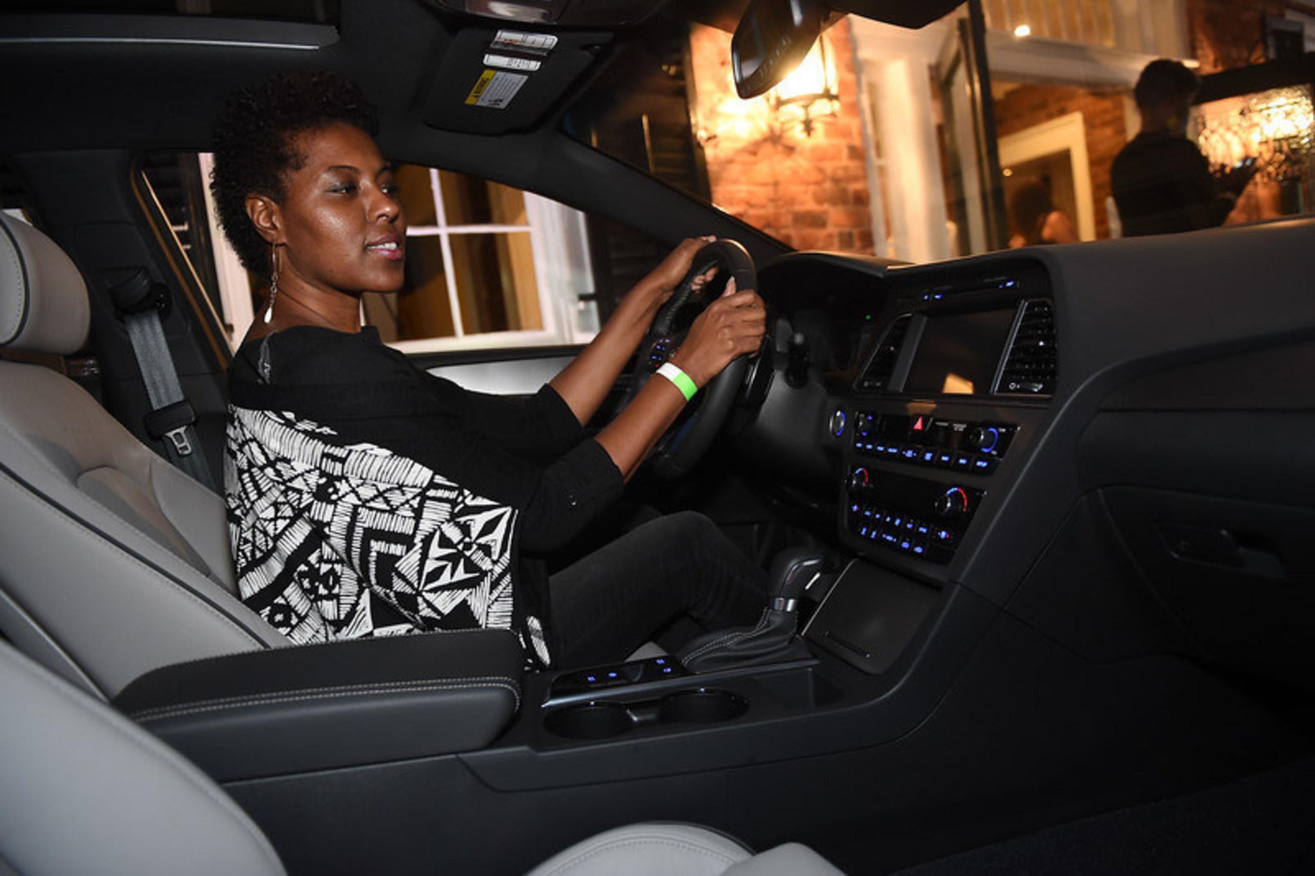 Guests experiencing the all-new 2015 Hyundai Sonata