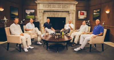 Ashworth Majors Roundtable with Retief Goosen, Paul Azinger, Justin Rose, Fred Couples, Justin Leonard, and Stewart Cink. (PRNewsFoto/Back9Network)