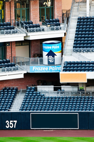 10-ft-tall Frazee Paint can stationed at PETCO Park.  (PRNewsFoto/Frazee Paint, Joan Kristine Photography)