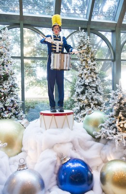 Beau Rivage Resort & Casino has a holiday musician display at the front desk for 2015.  Each musician is more than 10 feet tall.