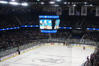 The Center-Hung LED display at Allstate Arena (Courtesy of Allstate Arena).  (PRNewsFoto/Panasonic Eco Solutions North America)