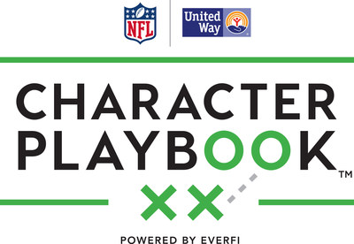 The NFL and United Way Worldwide are proud to announce the national launch of Character Playbook(TM), a new education initiative focused on youth character development and healthy relationships.