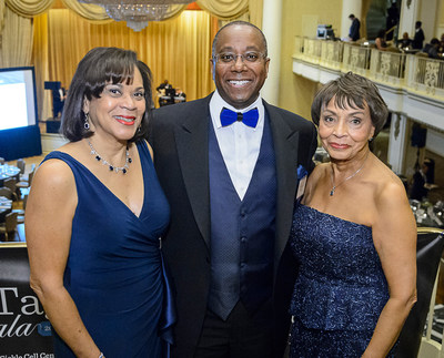 Pictured from left to right are this year's Blue Tag Gala co-chairs: Judith Royal, Steven Sanders and Darlene Logan