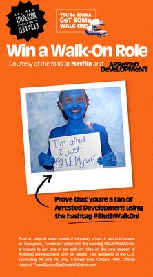 Win a walk-on role courtesy of Netflix and Arrested Development.  (PRNewsFoto/Netflix, Inc.)