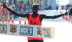 Kenyan James Kirwa Edges out Top Pack of Elite Male Runners in Last Seconds of Race.  (PRNewsFoto/Dick's Sporting Goods Pittsburgh Marathon)
