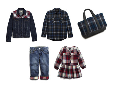 Selected images from the Fall 2016 Gap x Pendleton collection for the entire family