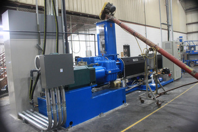 New Extruder Commissioned by AXION Recycled Plastics. (PRNewsFoto/AXION International Holdings, Inc.) (PRNewsFoto/AXION INTL HOLDINGS, INC.)