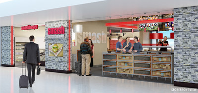 Smashburger Storefront Rendering at DIA Concourse C
