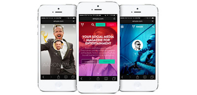 Follow the entertainers you love and customize your Waterfall to experience what's happening in your world of entertainment every day.    (PRNewsFoto/EMUZE)