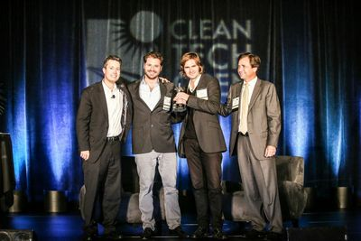 Climate-KIC start-up ECF Farmsystems was awarded the Global Ideas Award at the Cleantech Open in Silicon Valley (PRNewsFoto/Climate-KIC)