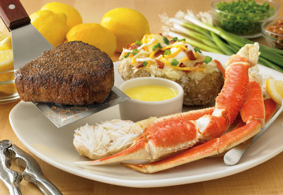 Outback Steakhouse is diving into summer with its Great Barrier Eats seafood promotion, led by the return of its popular Sirloin & Snow Crab entree.  (PRNewsFoto/Outback Steakhouse)