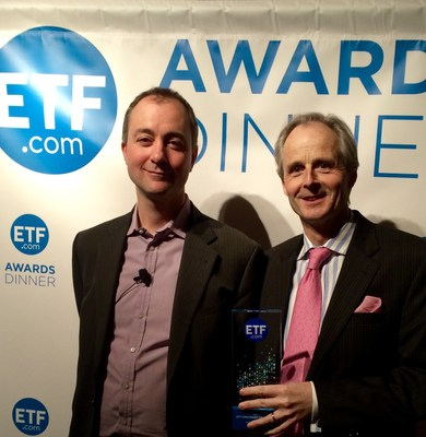 Rod Smyth accepts the 2014 ETF Strategist of the Year Award