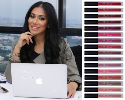 Huda Kattan launches Liquid Matte Lipstick for National Lipstick Day.