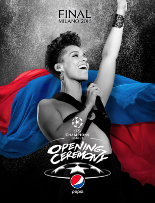 """Alicia Keys to perform at the first-ever """"UEFA Champions League Final Opening Ceremony presented by Pepsi"""""""
