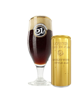 21st Amendment Brewery has launched Lower De Boom barleywine style ale in 8.4-oz. cans made by Ball Corporation.  (PRNewsFoto/Ball Corporation)