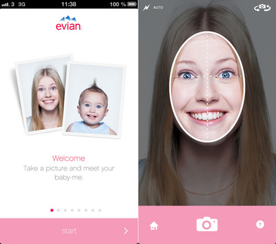 evian(R) Launches Baby & Me Application.  (PRNewsFoto/Evian North America)