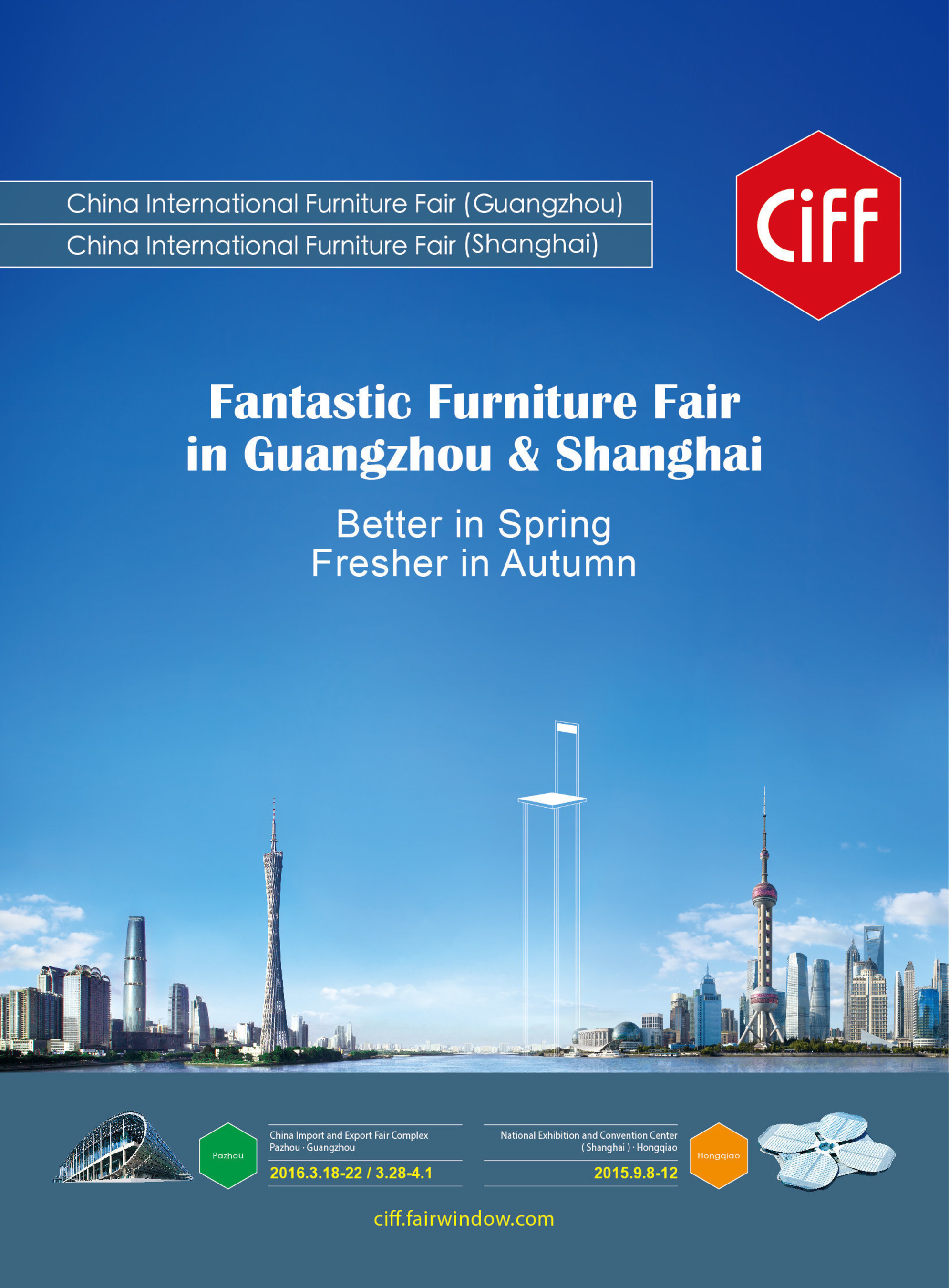 Feria Internacional del Mueble de China (Shanghái) se desarrollará en el Centro Nacional de