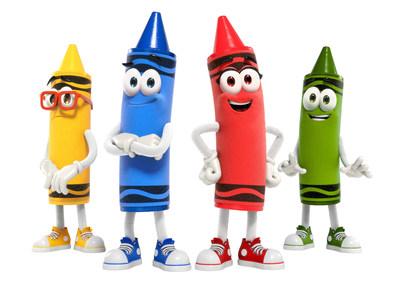 "From left to right: Goldenrod aka ""Rod,"" Denim aka ""Denny,"" Scarlett and Asparagus aka ""Gus""."