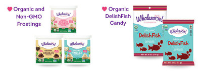 The Wholesome! line of Organic, Non-GMO Frostings remove the stress of last minute baking. These frostings are convenient, ready-to-use and free of artificial preservatives and flavors. They are also vegan, gluten-free and kosher making them an easy baking solution for every kind of sweet tooth and occasion. Wholesome! is also launching Organic DelishFish, an organic version of a popular fish-shaped candy. The candy is made with organic, clean ingredients and free of corn syrup, artificial colors and flavors. They are the perfect snack for road trips, movie nights and lunchbox surprises.