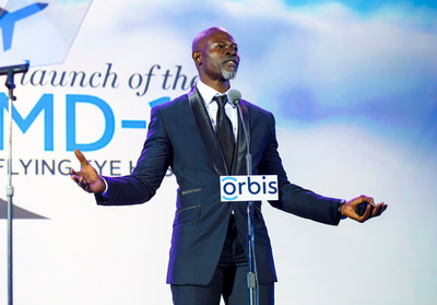 Academy Award-nominated Actor Djimon Hounsou was announced as Orbis Africa's Continental Ambassador at the launch gala for their new Flying Eye Hospital.