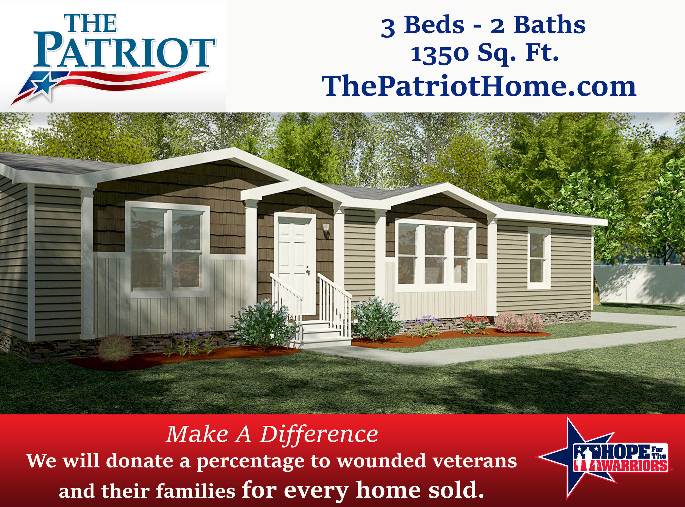 The Clayton Built 'Patriot' Home Available to Homeowners