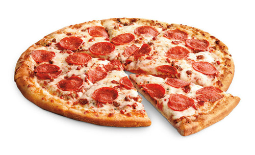 Participating 7-Eleven stores offer super prices on its hot, whole, 14-inch pizzas with purchase of 2-liter bottle of soda, This comes just in time for biggest sports day of the year that is also the biggest sales day for pizza. (PRNewsFoto/7-Eleven, Inc.) (PRNewsFoto/7-ELEVEN, INC.)