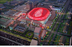 New Detroit arena conceptual drawing -- aerial view. (PRNewsFoto/Ilitch Holdings, Inc.)